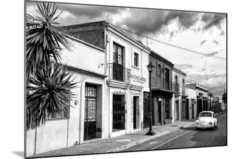 ?Viva Mexico! B&W Collection - White VW Beetle Car in Mexican Street II-Philippe Hugonnard-Mounted Photographic Print