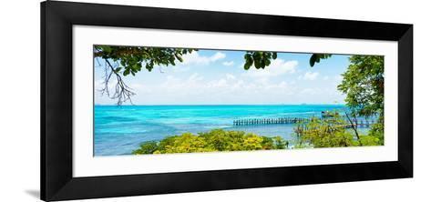 ¡Viva Mexico! Panoramic Collection - Isla Mujeres Coastline V-Philippe Hugonnard-Framed Art Print