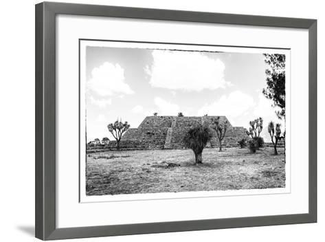 ?Viva Mexico! B&W Collection - Pyramid of Cantona IV-Philippe Hugonnard-Framed Art Print