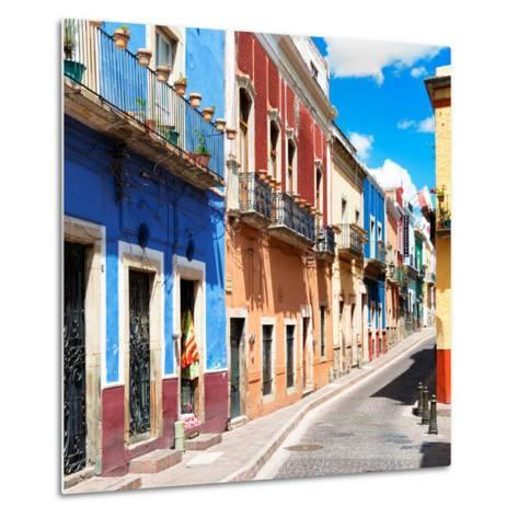 ¡Viva Mexico! Square Collection - Street Scene Guanajuato II-Philippe Hugonnard-Metal Print