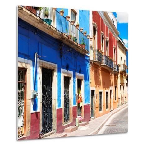¡Viva Mexico! Square Collection - Street Scene Guanajuato-Philippe Hugonnard-Metal Print