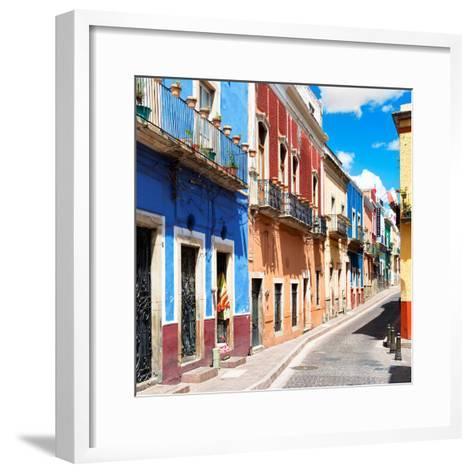¡Viva Mexico! Square Collection - Street Scene Guanajuato II-Philippe Hugonnard-Framed Art Print