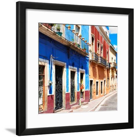 ¡Viva Mexico! Square Collection - Street Scene Guanajuato-Philippe Hugonnard-Framed Art Print