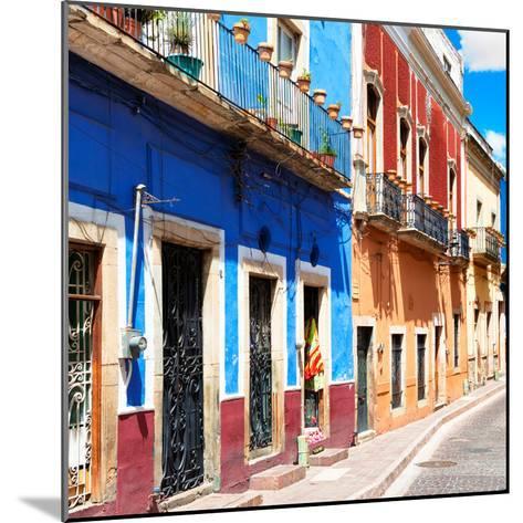 ¡Viva Mexico! Square Collection - Street Scene Guanajuato-Philippe Hugonnard-Mounted Photographic Print