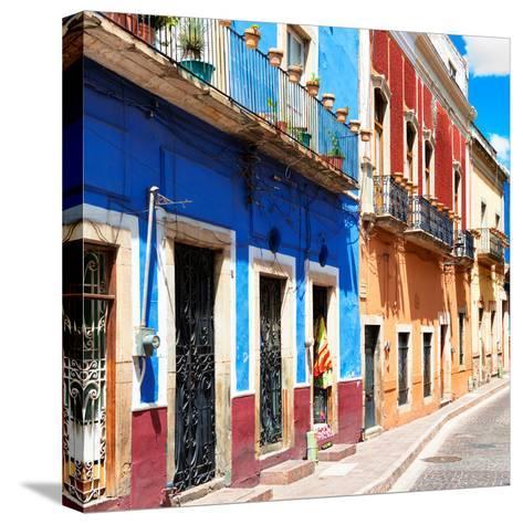 ¡Viva Mexico! Square Collection - Street Scene Guanajuato-Philippe Hugonnard-Stretched Canvas Print