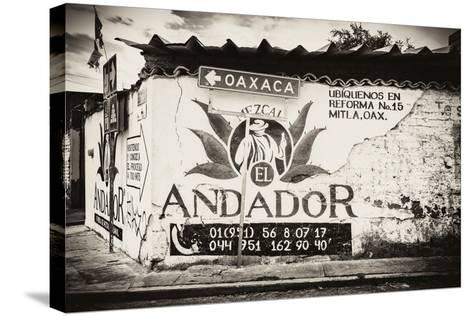 ¡Viva Mexico! B&W Collection - Andador Oaxaca-Philippe Hugonnard-Stretched Canvas Print