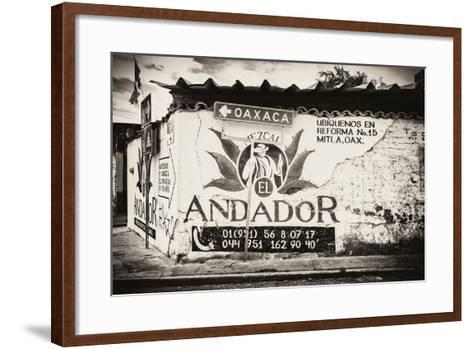 ¡Viva Mexico! B&W Collection - Andador Oaxaca-Philippe Hugonnard-Framed Art Print