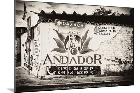 ¡Viva Mexico! B&W Collection - Andador Oaxaca-Philippe Hugonnard-Mounted Photographic Print