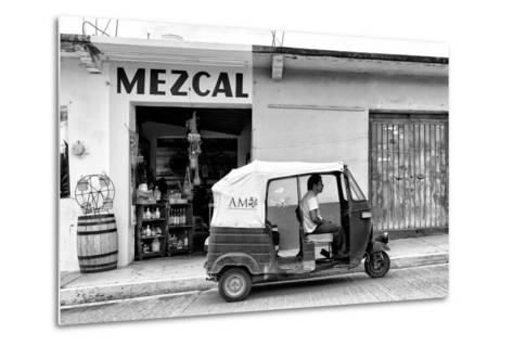 ¡Viva Mexico! B&W Collection - Mezcal Tuk Tuk-Philippe Hugonnard-Metal Print