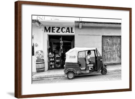 ¡Viva Mexico! B&W Collection - Mezcal Tuk Tuk-Philippe Hugonnard-Framed Art Print