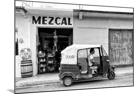 ¡Viva Mexico! B&W Collection - Mezcal Tuk Tuk-Philippe Hugonnard-Mounted Photographic Print