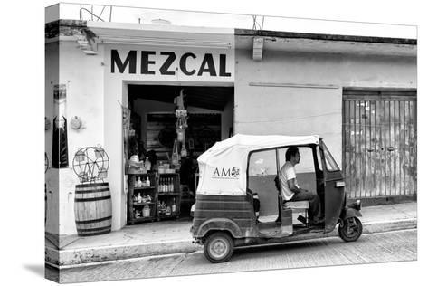 ¡Viva Mexico! B&W Collection - Mezcal Tuk Tuk-Philippe Hugonnard-Stretched Canvas Print