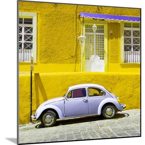 ¡Viva Mexico! Square Collection - VW Beetle Car and Yellow Wall-Philippe Hugonnard-Mounted Photographic Print