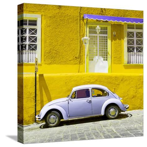 ¡Viva Mexico! Square Collection - VW Beetle Car and Yellow Wall-Philippe Hugonnard-Stretched Canvas Print