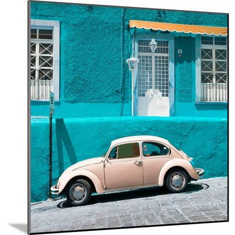 ¡Viva Mexico! Square Collection - VW Beetle Car and Turquoise Wall-Philippe Hugonnard-Mounted Photographic Print