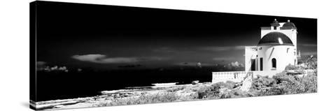 ¡Viva Mexico! Panoramic Collection - White House B&W - Isla Mujeres-Philippe Hugonnard-Stretched Canvas Print