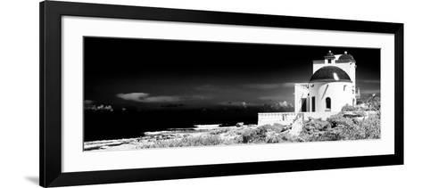 ¡Viva Mexico! Panoramic Collection - White House B&W - Isla Mujeres-Philippe Hugonnard-Framed Art Print