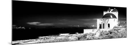 ¡Viva Mexico! Panoramic Collection - White House B&W - Isla Mujeres-Philippe Hugonnard-Mounted Photographic Print
