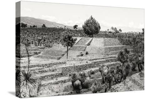 ?Viva Mexico! B&W Collection - Pyramid of Puebla VII (Cantona Ruins)-Philippe Hugonnard-Stretched Canvas Print