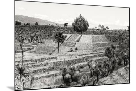 ?Viva Mexico! B&W Collection - Pyramid of Puebla VII (Cantona Ruins)-Philippe Hugonnard-Mounted Photographic Print
