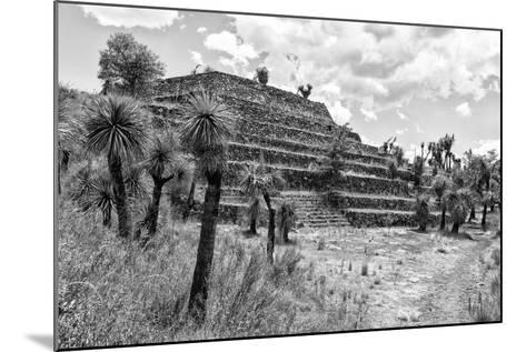 ¡Viva Mexico! B&W Collection - Pyramid of Puebla III (Cantona Ruins)-Philippe Hugonnard-Mounted Photographic Print