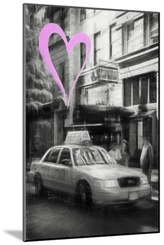 Luv Collection - New York City - Taxi Cabs-Philippe Hugonnard-Mounted Giclee Print