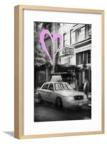 Luv Collection - New York City - Taxi Cabs-Philippe Hugonnard-Framed Art Print