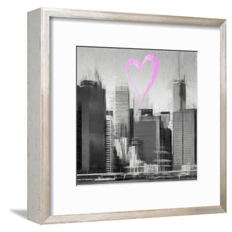 Luv Collection - New York City - Skyscrapers II-Philippe Hugonnard-Framed Art Print
