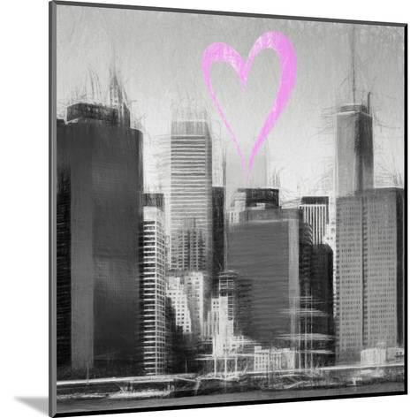 Luv Collection - New York City - Skyscrapers II-Philippe Hugonnard-Mounted Giclee Print