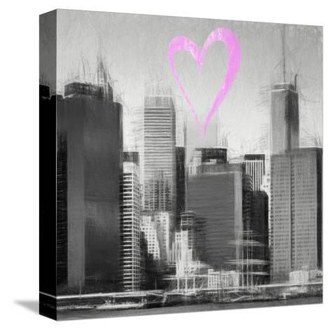 Luv Collection - New York City - Skyscrapers II-Philippe Hugonnard-Stretched Canvas Print