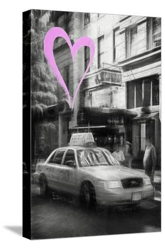 Luv Collection - New York City - Taxi Cabs-Philippe Hugonnard-Stretched Canvas Print