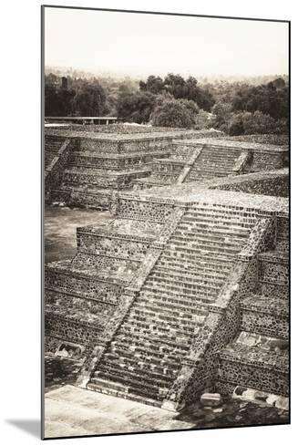 ?Viva Mexico! B&W Collection - Teotihuacan Pyramids - Archaeological Site-Philippe Hugonnard-Mounted Photographic Print