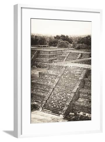 ?Viva Mexico! B&W Collection - Teotihuacan Pyramids - Archaeological Site-Philippe Hugonnard-Framed Art Print