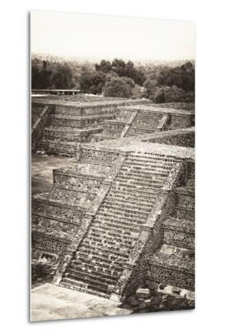 ?Viva Mexico! B&W Collection - Teotihuacan Pyramids - Archaeological Site-Philippe Hugonnard-Metal Print