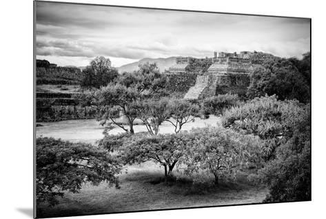 ¡Viva Mexico! B&W Collection - Monte Alban Pyramids II-Philippe Hugonnard-Mounted Photographic Print