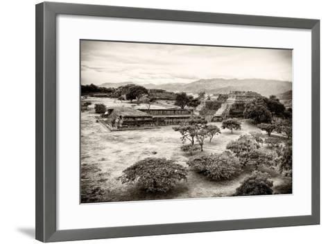 ?Viva Mexico! B&W Collection - Monte Alban Pyramids VII-Philippe Hugonnard-Framed Art Print
