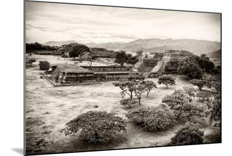 ?Viva Mexico! B&W Collection - Monte Alban Pyramids VII-Philippe Hugonnard-Mounted Photographic Print