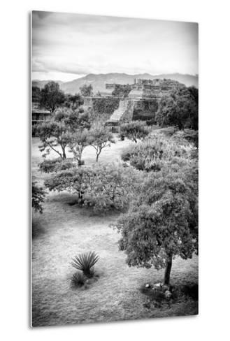 ?Viva Mexico! B&W Collection - Monte Alban Pyramids VI-Philippe Hugonnard-Metal Print