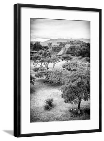 ?Viva Mexico! B&W Collection - Monte Alban Pyramids VI-Philippe Hugonnard-Framed Art Print