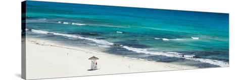 ¡Viva Mexico! Panoramic Collection - Blue Ocean and White Beach - Cancun-Philippe Hugonnard-Stretched Canvas Print
