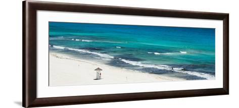 ¡Viva Mexico! Panoramic Collection - Blue Ocean and White Beach - Cancun-Philippe Hugonnard-Framed Art Print