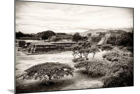 ¡Viva Mexico! B&W Collection - Monte Alban Pyramids III-Philippe Hugonnard-Mounted Photographic Print