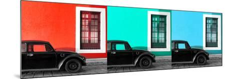 ¡Viva Mexico! Panoramic Collection - Three Black VW Beetle Cars IX-Philippe Hugonnard-Mounted Photographic Print