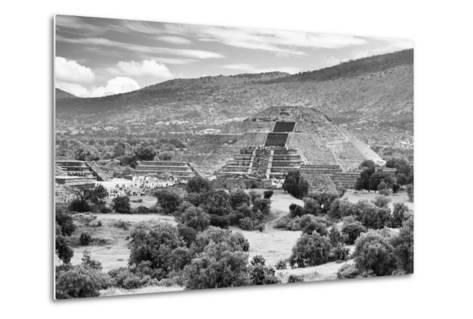 ?Viva Mexico! B&W Collection - Teotihuacan Pyramids III - Archaeological Site-Philippe Hugonnard-Metal Print