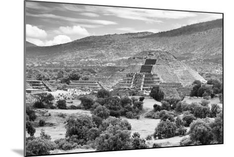 ?Viva Mexico! B&W Collection - Teotihuacan Pyramids III - Archaeological Site-Philippe Hugonnard-Mounted Photographic Print