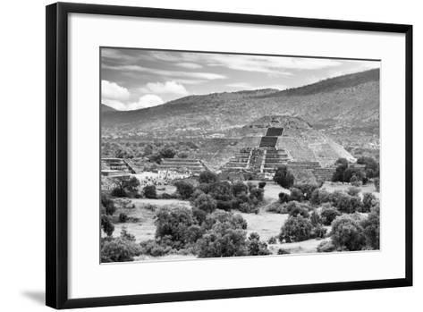 ?Viva Mexico! B&W Collection - Teotihuacan Pyramids III - Archaeological Site-Philippe Hugonnard-Framed Art Print