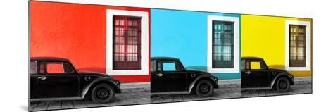 ¡Viva Mexico! Panoramic Collection - Three Black VW Beetle Cars XII-Philippe Hugonnard-Mounted Photographic Print