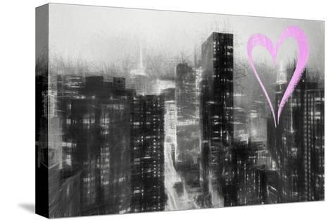 Luv Collection - New York City - Manhattan by Night-Philippe Hugonnard-Stretched Canvas Print