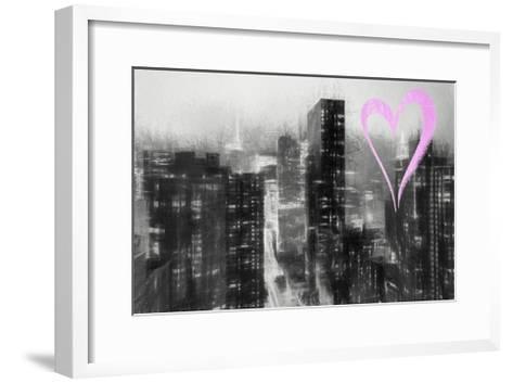 Luv Collection - New York City - Manhattan by Night-Philippe Hugonnard-Framed Art Print