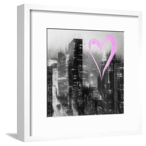 Luv Collection - New York City - Manhattan by Night II-Philippe Hugonnard-Framed Art Print